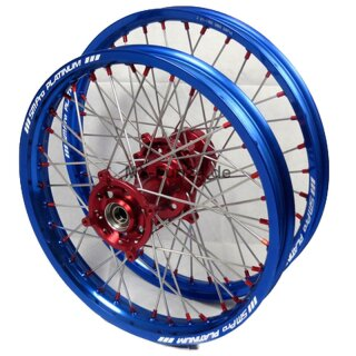 Beta Hinterrad Platinum Offroad SM Pro 18*2,50 Rot Blau Nickle Plated Steel Edelstahl